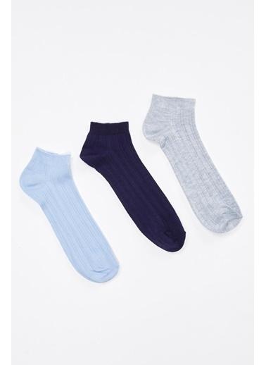 DeFacto Patik Çorap 3'lü Renkli